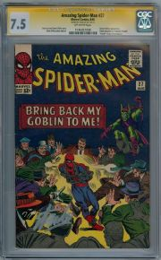 Amazing Spider-man #27 CGC 7.5 Signature Series Signed Stan Lee Green Goblin Silver Age Marvel comic